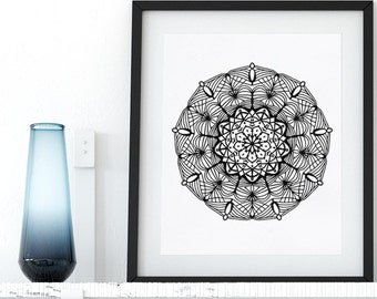 Mandala Coloring Page Printable Adult Coloring Pages Doodle Wall Art Coloring Art Therapy Instant Download Zen Coloring Mandala Digital Art