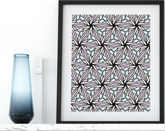 Coloring Page Zentangle Doodle Instant Download Wall Art Printable Adult Coloring Pages Zen Anti Stress Art Therapy Minimalist Printable Art