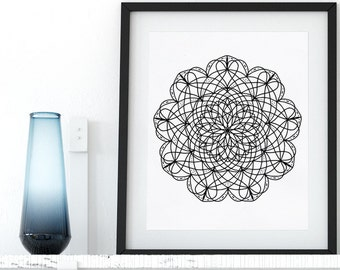 Mandala Coloring Page Printable Art Adult Coloring Pages Doodle Coloring Mandala Digital Wall Art Coloring Art Therapy Instant Download Zen