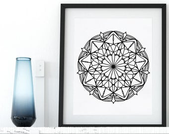 Printable Adult Coloring Page Floral Mandala Coloring Pages Adult Coloring AntiStress Art Therapy Instant Download Printable Zentangle Art