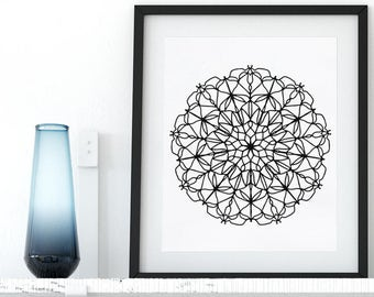 Instant Download Coloring Page Printable Mandala Floral Zentangle Adult Coloring Pages Anti Stress Art Therapy Art Zen Digital Printable Art
