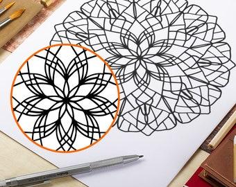 Printable Adult Coloring Page Doodle Mandala Coloring Page Printable Adult Coloring Book AntiStress Coloring Art Therapy Coloring Mandala