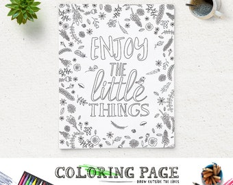 Coloring Page Printable Art Quote Love Always Wins Instant Etsy