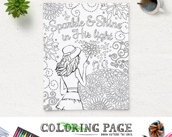 Printable Bible Verse Coloring Pages Instant Download Adult Etsy