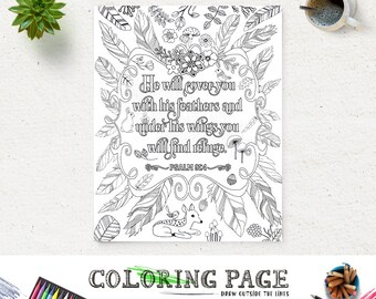 Coloring Page Printable Bible Verse Song Of Solomon 3 4 Etsy