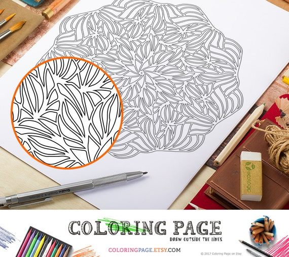 Coloring Page Printable Mandala Adult Coloring Pages Doodle Wall Art  Coloring Art Therapy Coloring Mandala Papercut Art Instant Download Zen