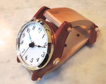 Desk/Wall Watch of Padauk and Maple