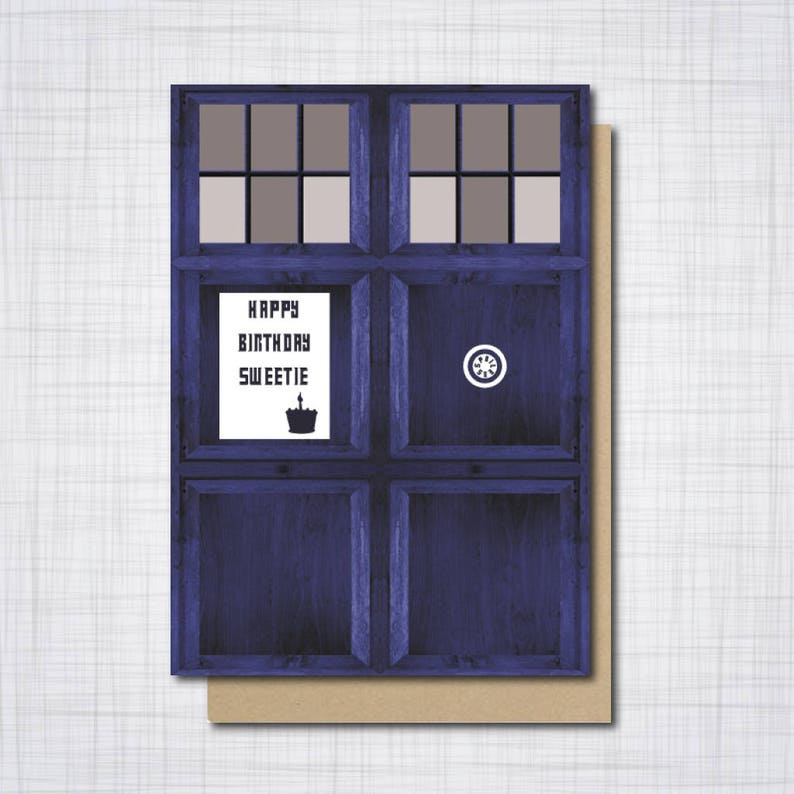 A5 Doctor Who Geek Birthday Card Dr Who Happy Birthday Etsy
