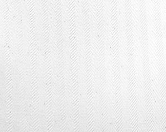 Coutil Corset Fabric Heavyweight White Herringbone 100% Cotton  Coutil Corsetry Fabric-By-The-Yard