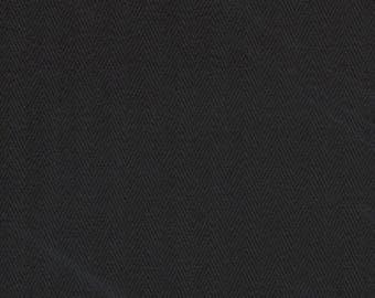 Heavyweight Black Herringbone 100% Cotton Corset Coutil Corsetry Fabric-By-The-Yard