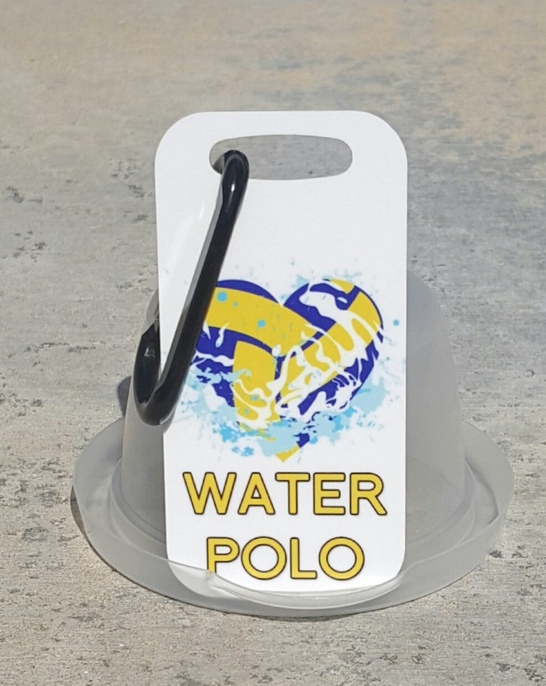 bb62c4b428ea Water Polo Bag Tag Luggage Tag water polo gift idea water