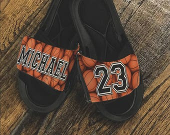 Basketball_Slide Sandals_customize these slides anyway you would like