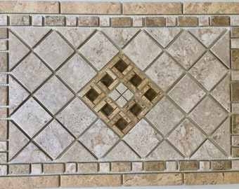 Navona Marrazzi Porcelain Tile Mosaic Medallion Floor Wall Backsplash Design
