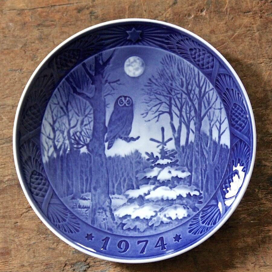 1974 Royal Copenhagen Christmas Plate 'Winter   Etsy