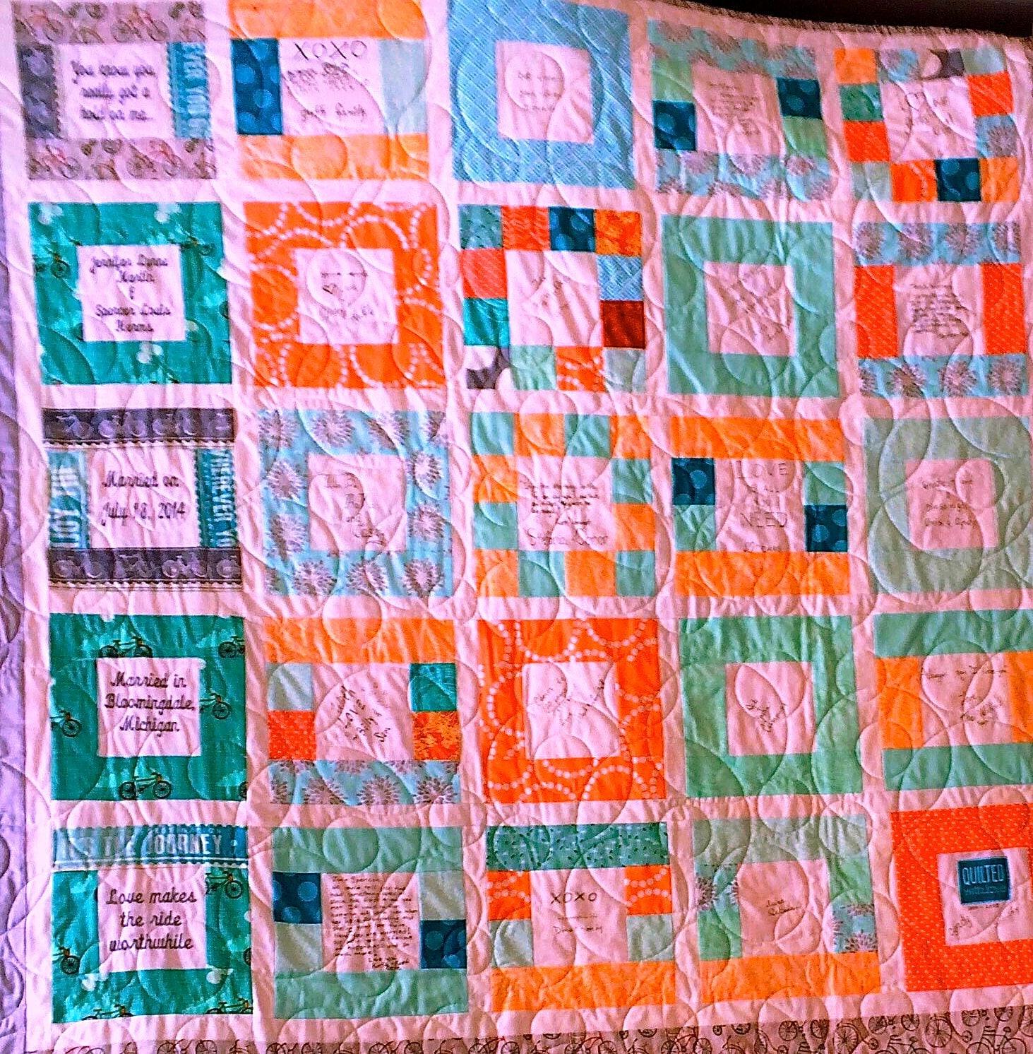 Digital quilt pattern Signatures Squared | Etsy
