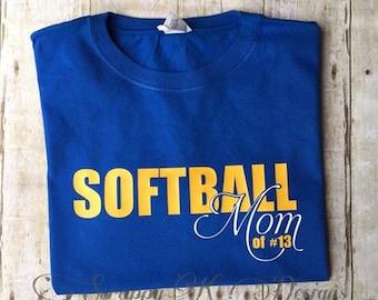 Softball Mom t-shirt, Softball Mom Tee, Personalized Softball Mom t-shirt, Custom Softball Mom Tee, Tshirt, T-shirt, Custom t-shirt