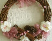 Cream Crochet Flowers,  P...