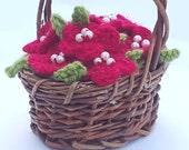 Beaded Flower Basket - Re...