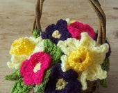 Spring Flower Basket - Ha...