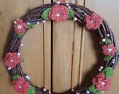 Coral Pink Handmade Croch...