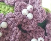 Crochet Flower Basket - H...