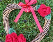Wicker Heart Gift, Rose H...