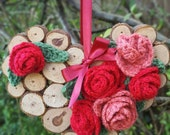 Wooden Heart with Crochet...