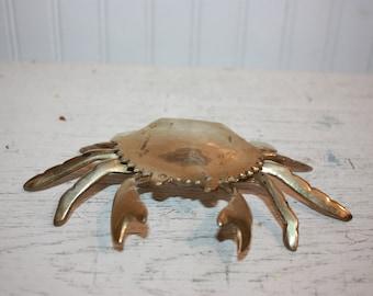 Elegant Brass Crab Figurine, Brass Crab, Brass Nautical Home Decor, Crab Figurine, Solid  Brass Display Crab Figurine, Nautical Orr Beach Decor