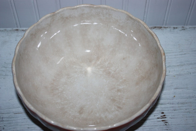Three Antique Coral Villeroy and Boch Dresden Saxony Nesting Bowls #6767 Number 2 3 and 4 Bowls