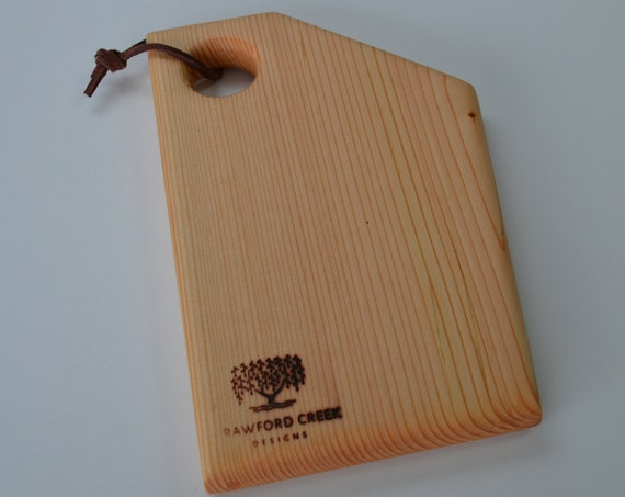 Cutting board, a beautiful natural Fir cheese board in a modern style