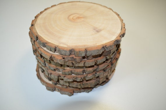 Blank wood slices, package of ten wood cookies for you to paint or draw your own images!!