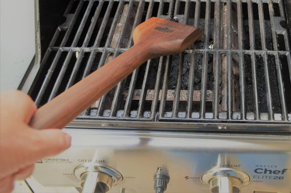 Barbeque Scraper, Walnut,  safest grill cleaner, hardwood bbq tool cleans your barbeque safer, great for outdoor living or gift!!