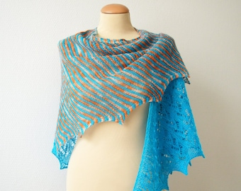 KNITTING PATTERN - Tangerine Tango Shawl - instant pdf download