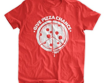Give Pizza Chance T-Shirt Give Peace A Chance T-Shirt Funny Pizza shirt Kids Shirt Peace Love Family Mens Ladies Womens Youth Kids T-shirt