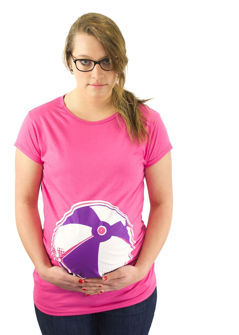 804138bd7be10 Maternity Clothes Funny Beach Ball Maternity T-Shirt Clothes   Etsy