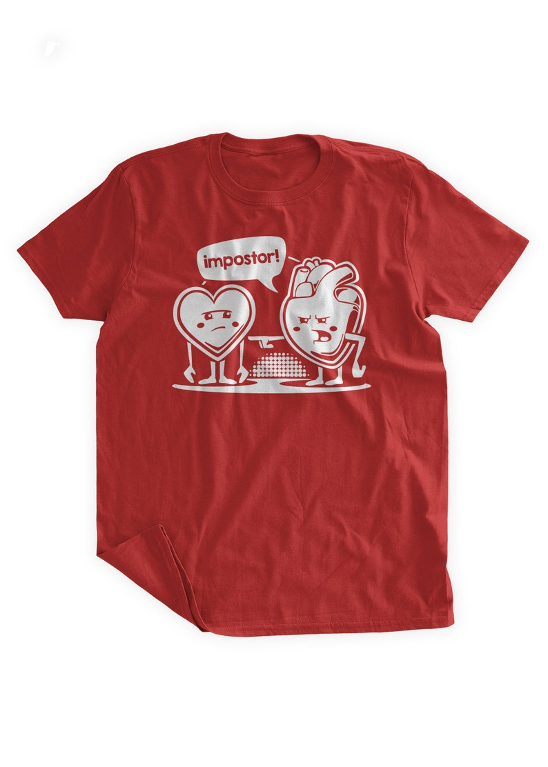 Coeur Valentin RougeEtsy Imposteur Coeurs T Shirt HIWYbeD29E