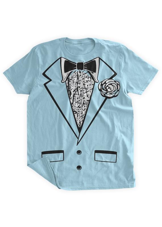 2019 best sell beauty outlet sale Funny Tuxedo Tshirt Blue Tuxedo Shirt Wedding Party Groom Retro Tuxedo  Costume Fancy Dress Fake Tuxedo Mens Tuxedo Tshirt