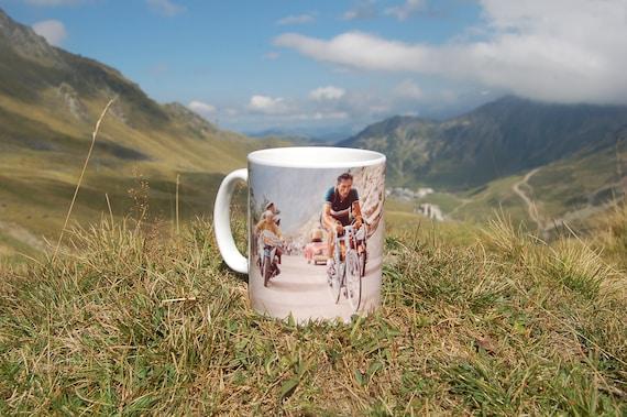 Fausto Coppi Quote Mug Cycling Souvenir Tour de France  a941c893a