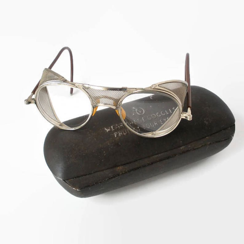 fac9b624a1a8 Vintage American Optical AO Protective Eyeglasses With Metal