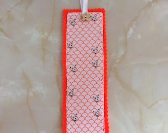 Panda fabric bookmark, bookmark,  stocking filler, panda bookmark