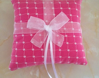 Wedding ring pillow, wedding ring cushion, ring bearer pillow