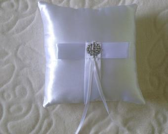 Wedding ring pillow, wedding ring cushion, ring bearer pillow