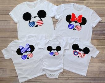 Disney Fourth of July Matching Family Tees, 4th of July Disney World tees, Disney Summer Tees, Magic Kingdom 4th of July, Disneyland July