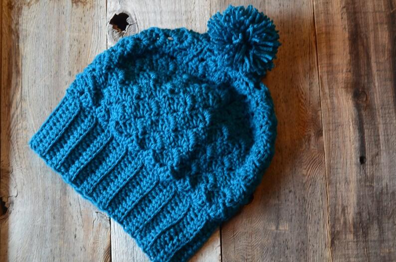 15d0f35669d Winter Slouchy Teal Crochet Hat Girls Beanie Women s