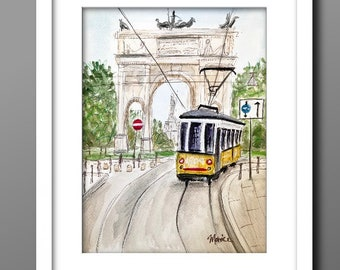 PRINTS WATERCOLOUR  painting Gateshead, LISBON, A4 size unframed,signed by artist, original  available