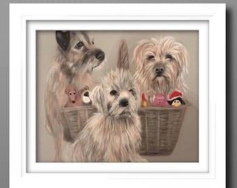 Custom pet portraits- custom Dog portrait- pet commission-  dog Painting, DOG ART , pet portrait commission, handpainted painting