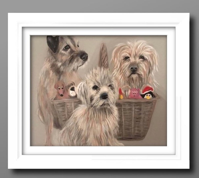 Custom pet portraits custom Dog portrait pet commission image 1