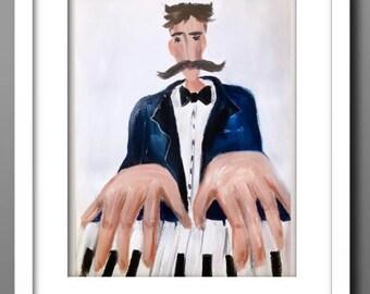Downloadable print PIANO MAN