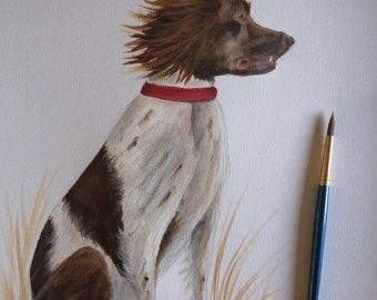 Hand painted Custom Pet portrait Custom Pet Painting Custom dog portrait Watercolour Painting Original Painting Personalised art
