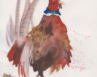 Downloadable pheasant print
